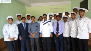 "Executive Chef of Sarovar  Radha Hometel Hotel Bangalore visited ASK Institute of Hospitality  Management and Culinary Arts,Bangalore on 12th March 2016 and delivered a guest lecture on ""Qualities essential to become a top chef"""